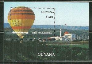 Guyana MNH S/S Hot Air Balloon Greenpeace