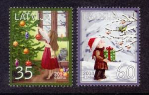 Latvia Sc# 773-4 MNH Christmas 2010