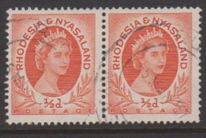 Rhodesia and Nyasaland Sc#141 Used Pair