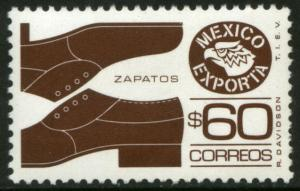 MEXICO Exporta 1467, $60P Mens shoes Unwmk Fluor Paper 8. MINT, NH. VF.