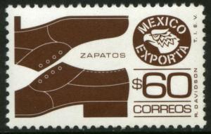 MEXICO Exporta 1467, $60P Mens shoes Unwmk Fluor Paper 8. MINT, NH. VF.