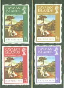 Cayman  Scott 251-4 Easter 1970 Religious Art set MH*