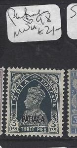 INDIA  PATIALA  (P0308BB)  KGVI  3P  SG 98   MNH