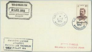 77747 - MADAGASCAR  - Postal History - First Flight COVER to TROMELIN polar 1954