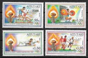 1992 Aitutaki 683-686 1992 Olympic Games in Barcelona 13,00 €
