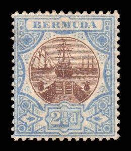 Bermuda 1906 2½ D Trocken Dock Wmk Mcca Sg 40 Postfrisch Cv