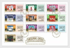 Isle of Man Stamps 2019. - New Year Cards 2019 - Christmas Spirit - FDC Self-Adh