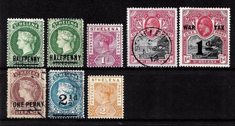 St. HELENA  1884-1919 Collection M/U.