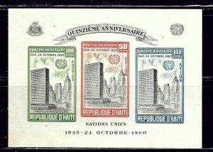 Haiti C168a MNH 1960 souvenir sheet    (ap1999)