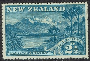 NEW ZEALAND 1898 LAKE WAKATIPU 21/2D NO WMK PERF 12 TO 16