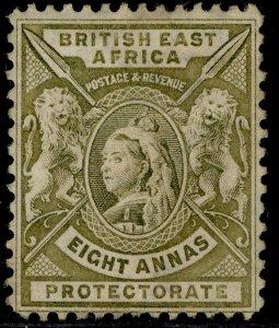 BRITISH EAST AFRICA QV SG74, 8a grey-olive, UNUSED. Cat £12.