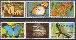 St. Thomas & Prince   #945-50  used CTO  (1990) c.v. $8.60