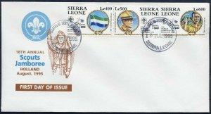 1995 Sierra Leone Boy Scout Jamboree Holland BP FDC