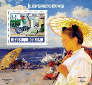 Niger - 2013 American Impressionist - Stamp Souvenir Sheet -14A-268