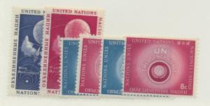 United Nations (New York) Scott #49 To 54 From 1957, Collectible Postage Stam...