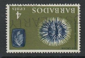 Barbados, SG 325w, used Watermark Inverted variety