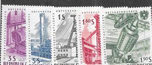 Austria  #668-672  Complete Set (MLH) CV $2.50