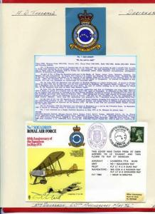 RAF24 60th Ann of the Squadron Signed by Designer Tony Theobald