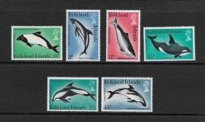 WHALES - FALKLAND ISLANDS #298-303  MNH