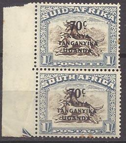 Kenya, Uganda & Tanzania 89 (M) vertical pair