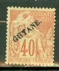 French Guiana 28 mint CV $135