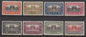 Austria 219-26 Parliament mint