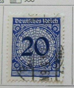 A8P50F97 Deutsches Reich Allemagne Germany 1923 20pf fine used stamp