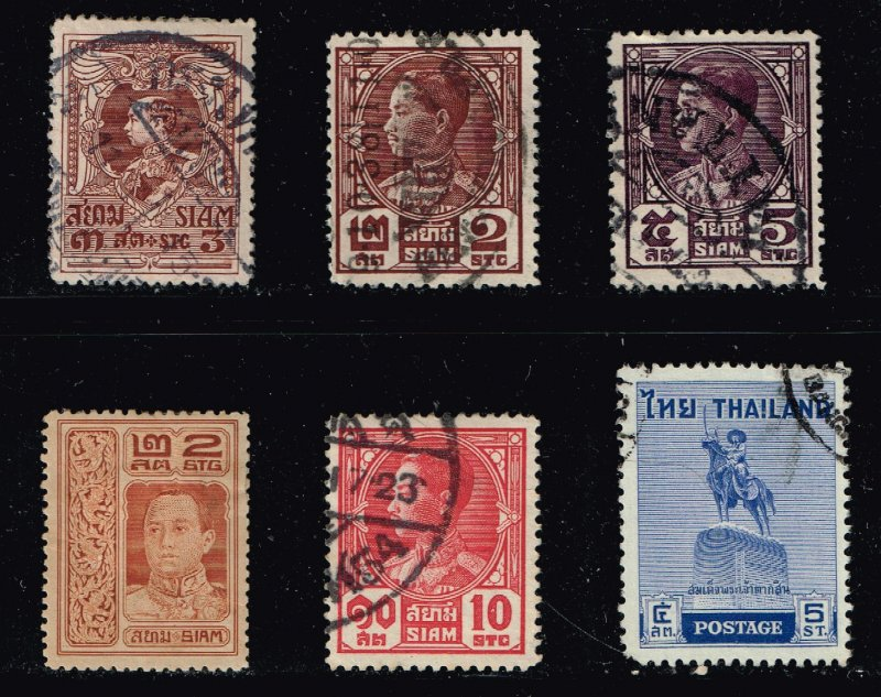 Thailand Stamp Thailand SIAM STAMP USED STAMP COLLECTION LOT #M2