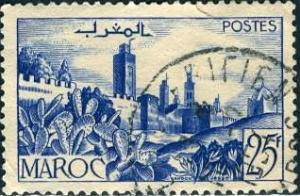 French Morocco 1949: Sc. # 247; O/Used Single Stamp