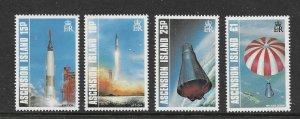 Ascension  420 - 423 (SG 428/31) Space - MNH - VF - CV$7.05