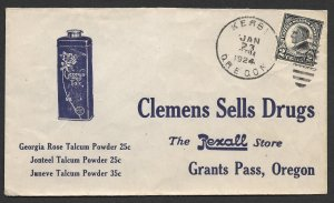 Doyle's_Stamps: 1924 Oregon Rexall Drug Store Advertising Cover