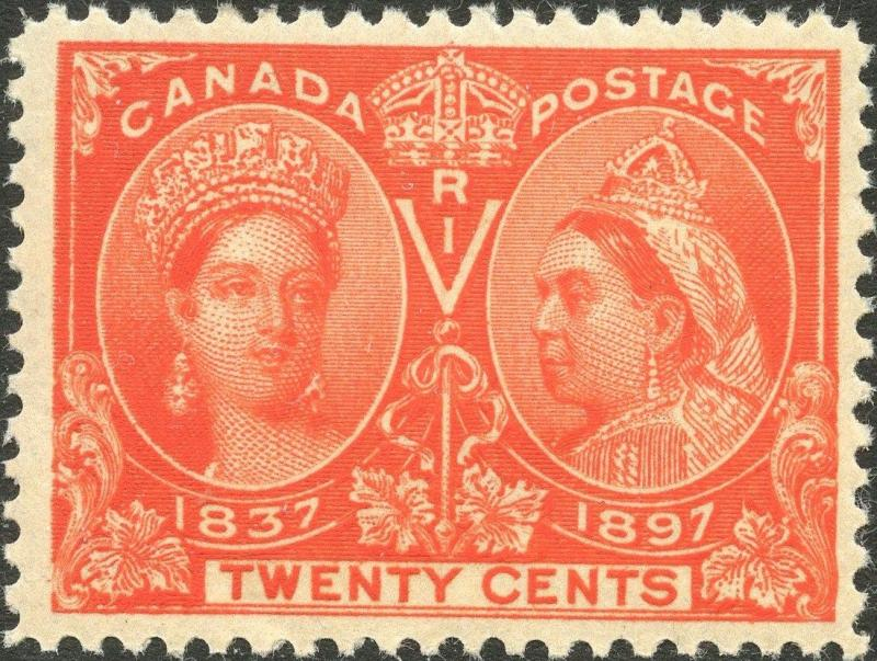 CANADA #59 XF OG NH (APP.) SLIGHT DISTURBED GUM CV $625.00 BN6666