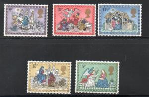 Great Britain Sc 879-83 1979 Christmas stamp set mint NH