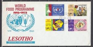 Lesotho, Scott cat. 136-139. Freedom From Hunger issue. First day Cover.