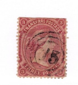 Transvaal #99 Faults Used - Stamp CAT VALUE $12.00