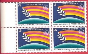 1985 United Nations Vienna International Peace Year  SC# 64-65 Mint