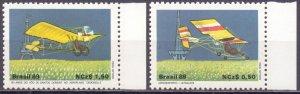 Brazil. 1989. 2310-11. aviation. MNH.