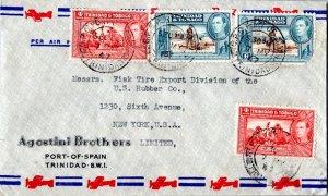 Trinidad 4c Memorial Park (2) and 6c Discovery of Lake Asphalt (2) 1947 G.P.O...