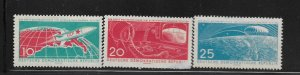 DDR, 549-551,  MINT HINGED, 1961 ISSUE