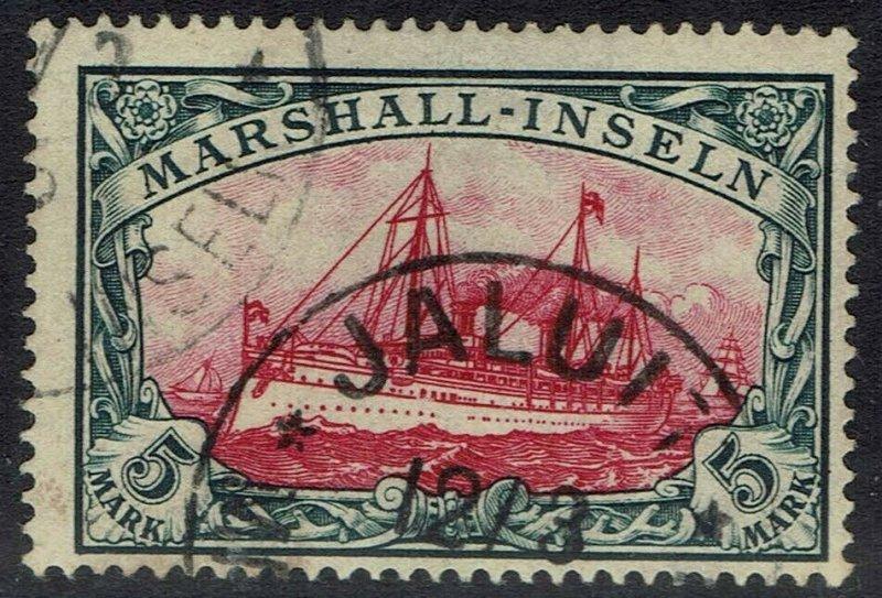 MARSHALL ISLANDS 1901 YACHT 5MK NO WMK USED EXPERTISED
