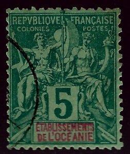 French Polynesia SC#4 Used F-VF...French Polynesia is Hot!