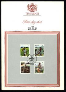 Transkei – 1982 Scouting First Day Sheet