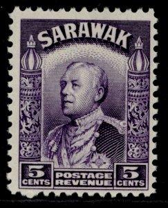 SARAWAK GV SG110, 5c violet, M MINT.