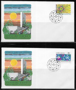 United Nations 392-93 Communications Headquarters Cachet FDC First Day Cover