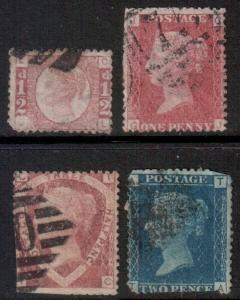 GB SG 48 43 51 46, 1858 Simplified Set used fillers