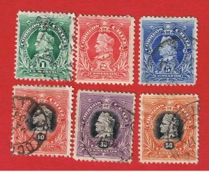 Chile #51-56  VF used  Columbus  Free S/H