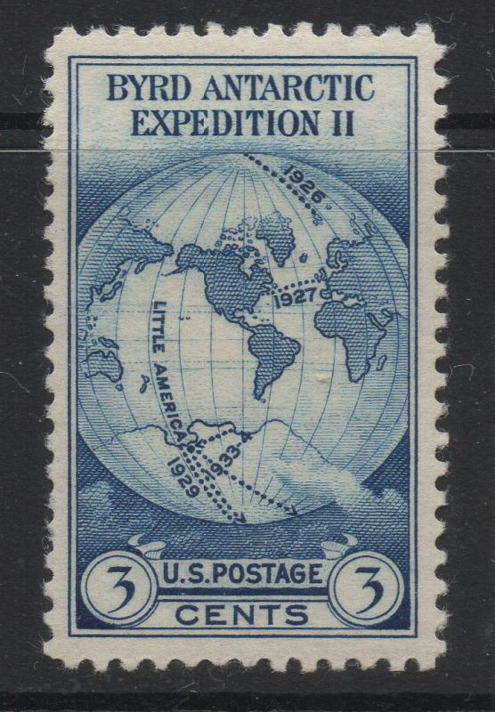 US United States 1933 Byrd Antarctic Issue 3c Stamps Scott 733 MH