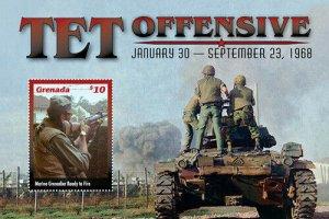 2020/11-GRENADA -VIETNAM WAR TET OFFENSIVE        1V  complet set    MNH ** T