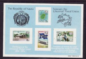 Nauru-Sc#117a-Unused NH sheet-UPU-Flags-1974-
