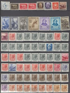 COLLECTION LOT OF #1114 ITALY 69  MOSTLY MNH STAMPS 1863+ CLEARANCE